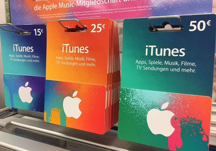 how to buy itunes gift card online with credit card