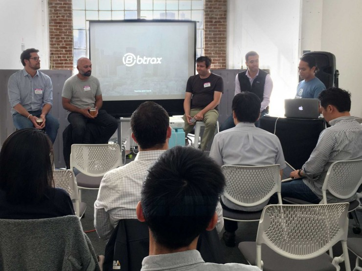panel of robot experts at btrax in san francisco discussing the future of robots in building management