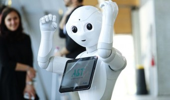 image of pepper the robot from japan at an event