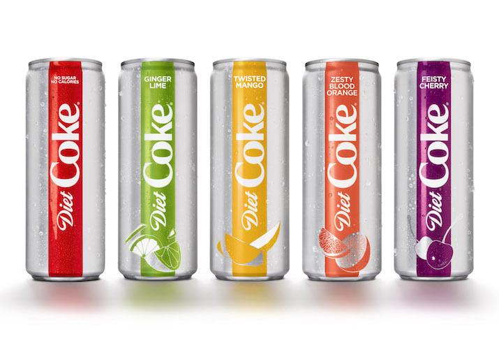 Diet Coke 4 new flavors