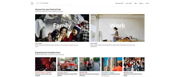 airbnb UI