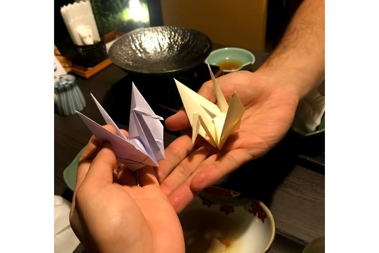 traditional restaurant surprise crane gift