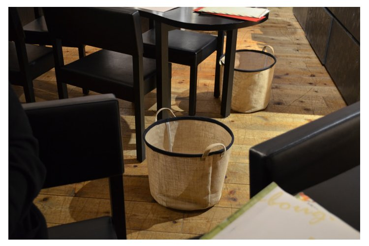 restaurant usability baskets for belongings