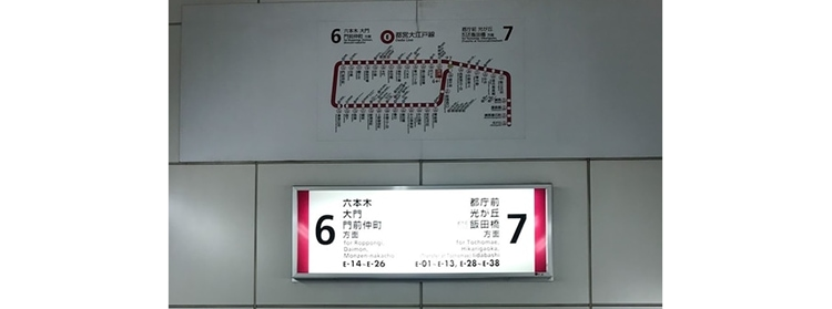 signage in the tokyo subway
