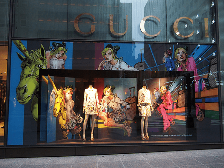 Jojo display at Gucci Store