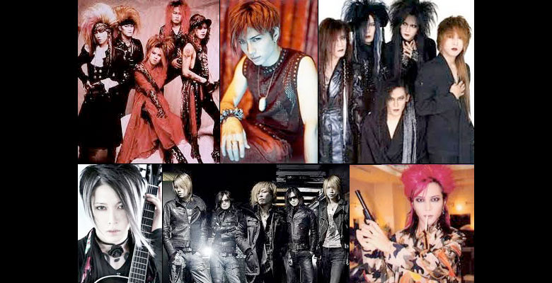 Popular Japanese Visual-kei bands on Facebook