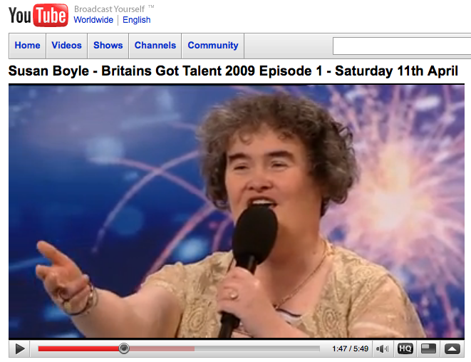 Viral Lessons for Business from Susan Boyle