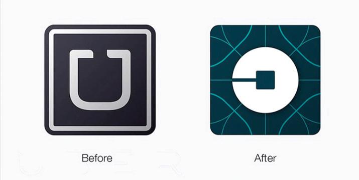 2016年2月にリデザインされたUberのロゴ