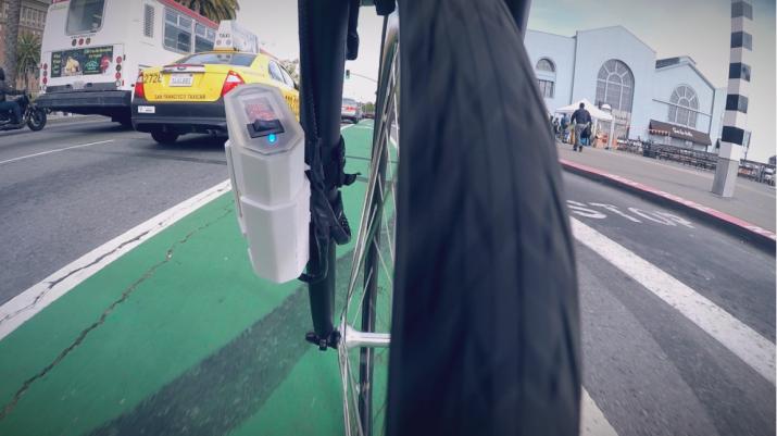 自転車を活用したデータ解析プロジェクトの様子