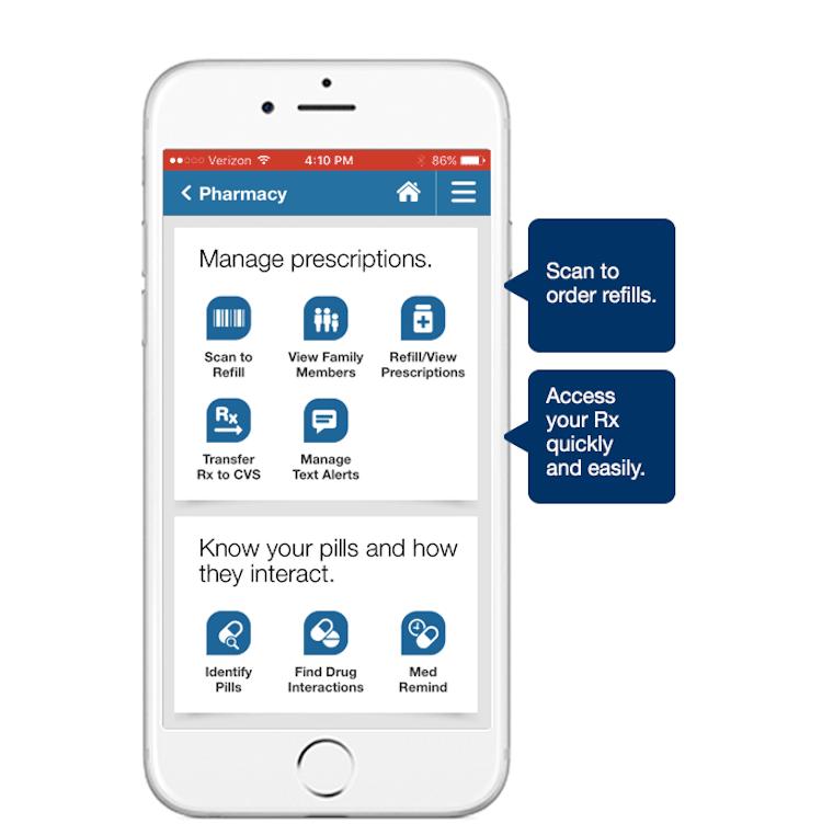 cv prescription app UI