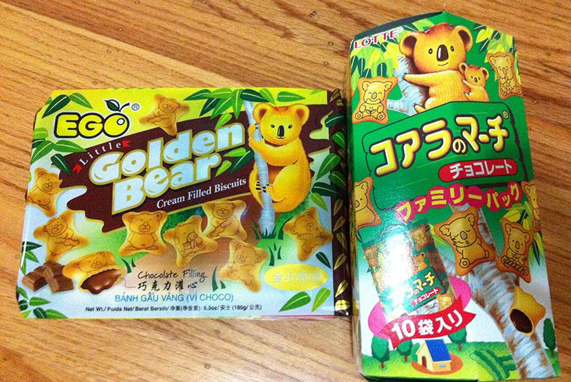 中国のお菓子と日本のお菓子