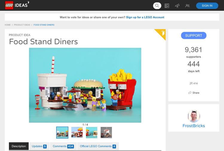 LEGO ideas website