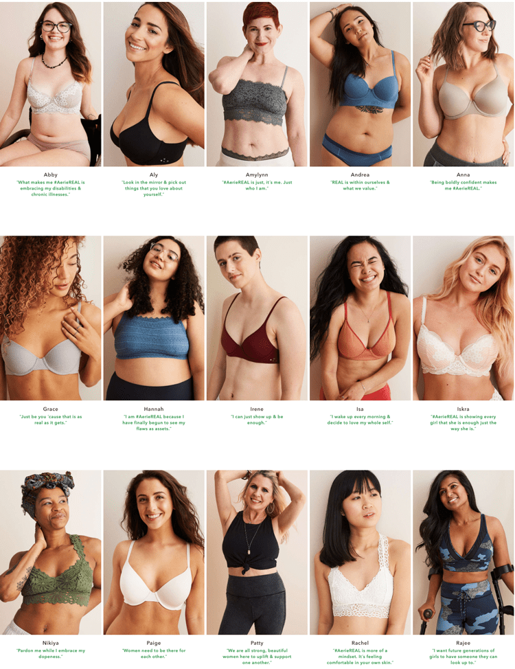 Aerie Real models