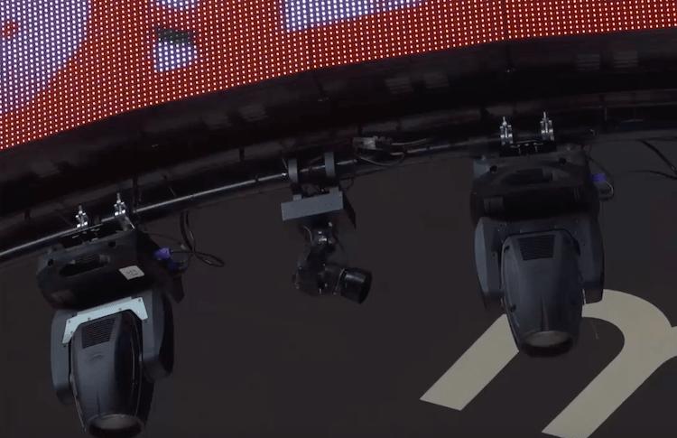 スタジアムに設置されているカメラ