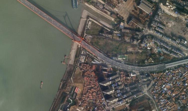 Wuhan city before lockdown