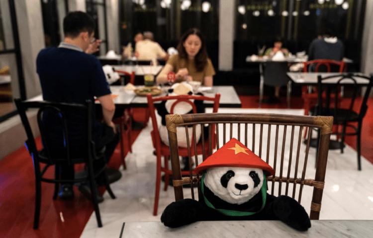 sitting panda