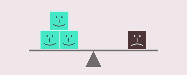 ポジティブとネガティブの比率: UXデザイン