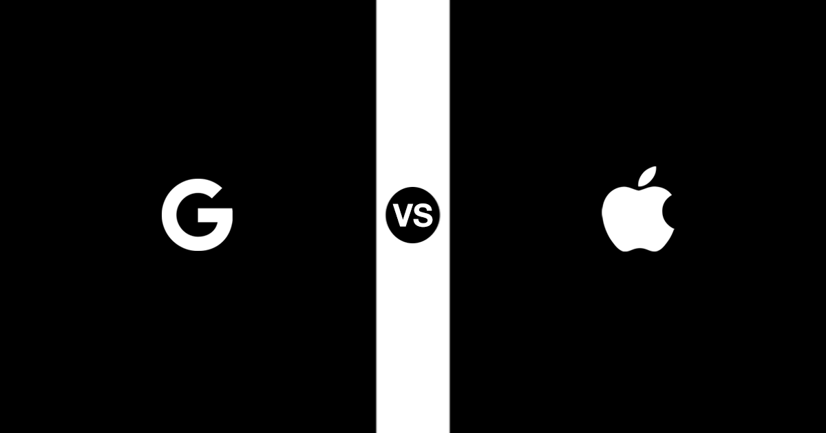 GoogleとAppleの違いを画像で表現してみた