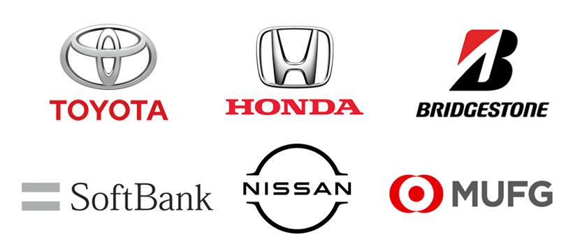 文字とシンボルのロゴ例