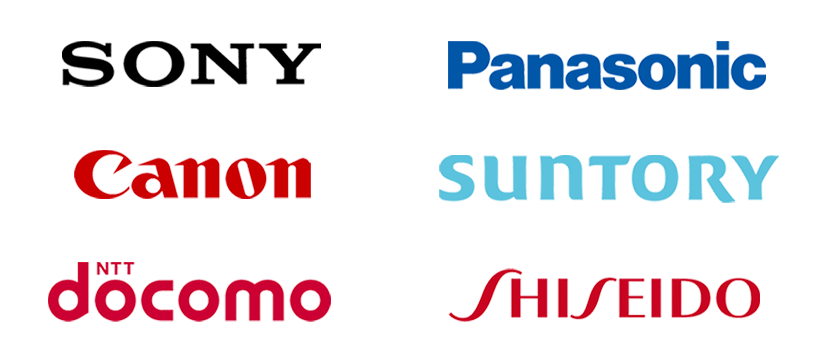 文字ベースのロゴ例