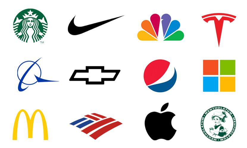 アメリカ企業のブランドロゴ