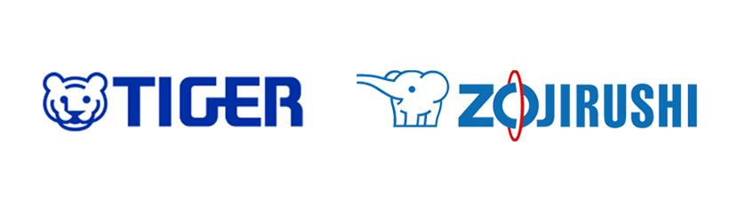タイガーと象印の公式ロゴ